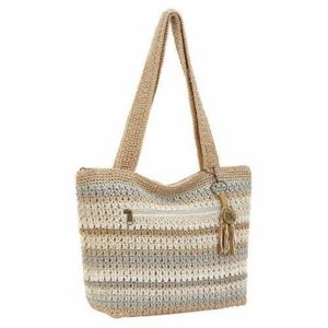 NEW THE SAK Amberly Crochet HANDBAG PURSE BEIGE